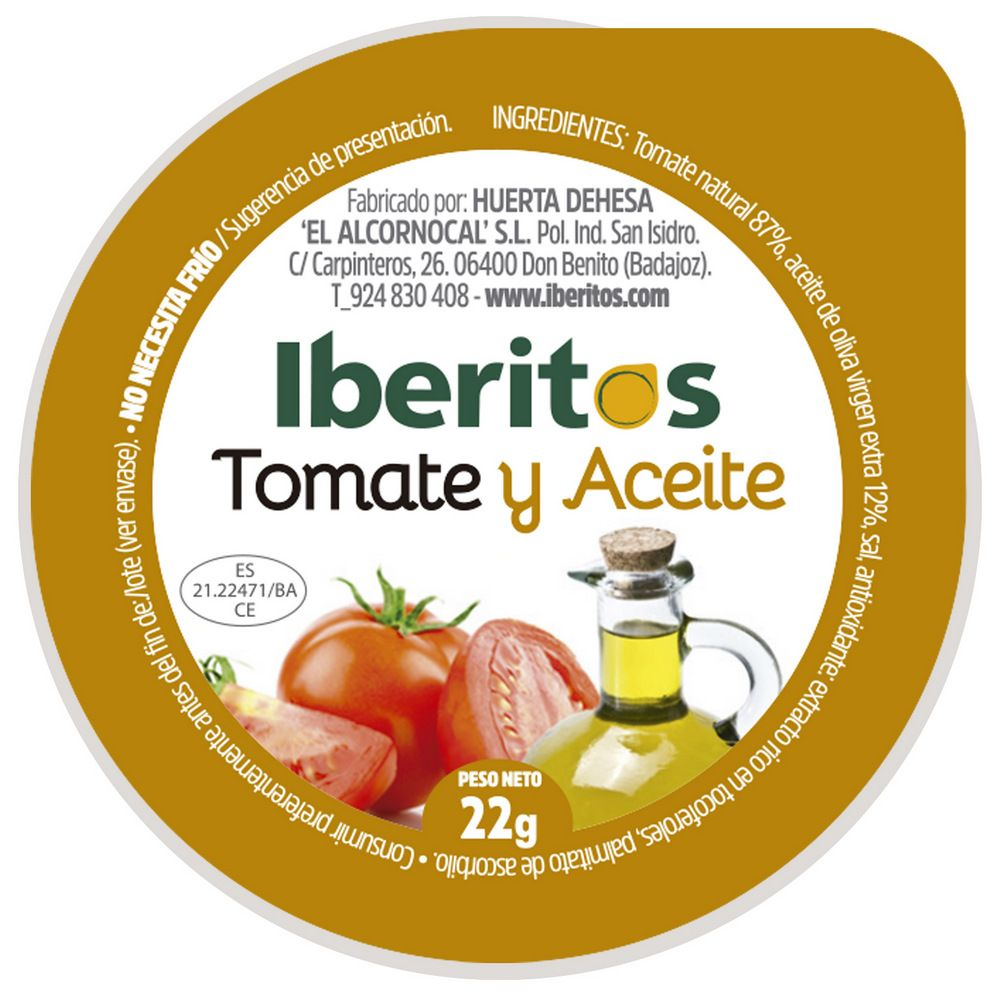 Monodosis Tomate Con Aceite 22g 120 Unidades