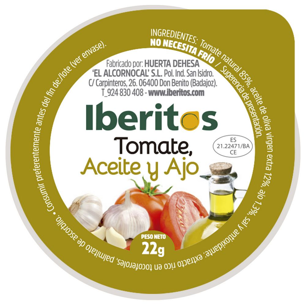 Monodosis Tomate Con Aceite Y Ajo 22g 120 Unidades