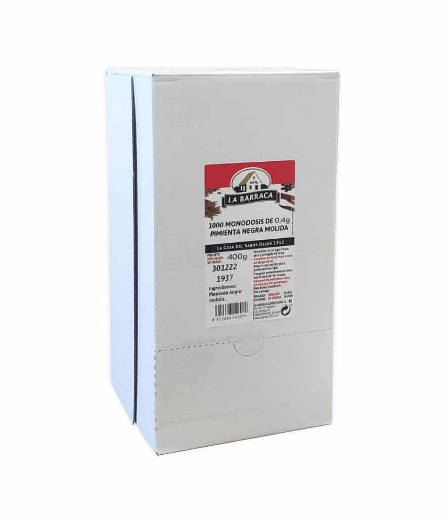 Caja 1000 Monodosis Pimienta Negra Molida 04g